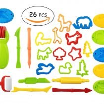 26 Pcs Cookie Cutters Molds for Kids Baking, Perfect for Playdoh Clay Dough Tool Cutters Molds