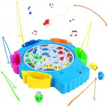 Fish Game Toy Fishing Musical Toys Kids Fishing Rod Set Board Games Role Play Game for Girls Boys 3 4 5 Years Old, Randomly Colors Deliver