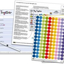 Let's Play Together Chart (1-4yrs) – ideal for stay at home parents, grandparents, child minders, baby sitters to interact, play and have fun with their children (42 x 30cm)