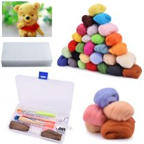 BASEIN Needle Felting Starter Kit Set, 36 Colors Wool Roving Felting Basic Kit for Hand Spinning DIY Craft Projects