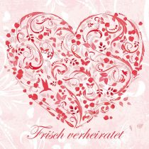 '55Pink Balloon Flower Heart Floral Hearts–Balloon Release Cards for Wedding, Extra Light, Weatherproof, Pre-Punched Edition Colibri (Set of 18)