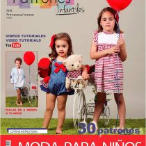 """'Magazine Children's Sewing Patterns, No. 6. Fashion primavera-verano, 30Patterns Models with Video Tutorials (Youtube), """"Girl, Boy, Baby Sewing Instructions in English."""