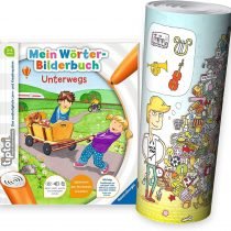 Collectix Ravensburger tiptoi® Beginner's Book for 3Years Old   My Word Book: On the Road + Child Wimmel Search Poster