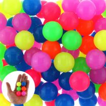 12x Bouncing Ball Rubber Ball dops Neon Colours 25 mm Party