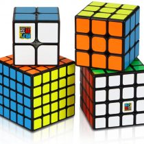 Aiduy Speed Cube Set, Magic Cube Set of 2x2x2 3x3x3 4x4x4 5x5x5 Speed Cube Vivid Color Sticker, Puzzle Cube with Gift Box Great Gift for Kids …