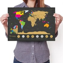 7 Wonders Scratchable World Map – A3 Travel Edition – Personalised Travel Tracker Poster – Remember and Share Your Adventures (Black | 29.7 x 42 cm)