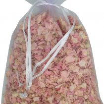 1 Litre of Pale Pink Natural Biodegradable Delphinium Petals with a White Organza Bag – Wedding Throwing Confetti