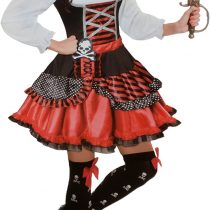 'Brand Sseller Ladies Fancy Dress Pirate Costume–Halloween Fancy Dress Costume INCLUDES Dress and Pirate Headscarf, Various Sizes