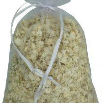1 Litre of Cream Natural Biodegradable Delphinium Petals with a White Organza Bag – Wedding Throwing Confetti