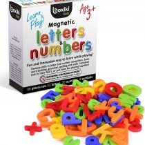 80 Piece Alphabet Magnets Set | ABC Learning Toys | Plastic Magnetic Letters & Numbers | Early Learning Toys for Letter, Number & Color Recognition | Upper & Lowercase Magnetic Letters by Boxiki Kids