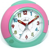 1708-6 Children's Alarm Clock Girl Without Ticking Pink