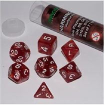 ADC Blackfire Entertainment 91656 16 mm Charming Red Role Playing Dice Set (7-Piece)