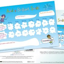 Add a Brilliant Smile Reward Chart for 3 yrs+ – Tooth brushing dental reward chart. Large laminated chart to educate and help children understand the importance of healthy teeth (420 x 297mm)