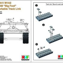 'Rye Field Original Model 5009 Model-Making Accessory M1 A1/M1 A2 x 6.1 Big Foot Workable Track Link