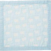 Angel Dear Jacquard Baby Blankie-Sheep Blue