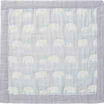 Angel Dear Jacquard Baby Blankie-Elephant Grey