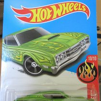 '69 Mercury Cyclone Hot Wheels 2016 HW Flames Series #10/10 1:64 Scale Collectible Die Cast Metal Toy Car Model #100/250 on International Card