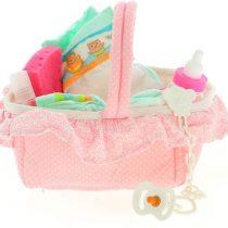 Antonio Juan Dolls Pink Dolls with Pacifier, Sponge, Bottle, Diaper, Shampoo Bottle and Teether, Color (143R)