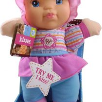 Babies First Kisses Doll – Squeeze Tummy For Kisses – Age 1+ – Machine Washable