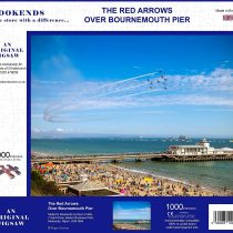 1000 Piece Jigsaw Puzzle – The Red Arrows Over Bournemouth Pier Dorset 5060085102438