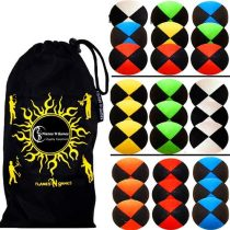3x Pro Thud Juggling Balls (Deluxe-SUEDE) Professional Juggling Balls Set of 3 + Travel Bag! (Blue/Yellow/Red)