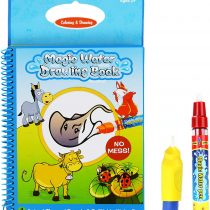Aqua Travel Doodle,Water Magic Drawing Colouring Activity Multi Colour Reusable Book with Two Magic Water Pens for Toddlers Kids 2 Years Plus Quality Rangebow Product (Animal Book GC00601)