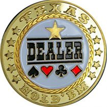 'Poker Card Guard Dealer Echt vergoldet