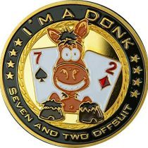'Poker Card Guard I'm A Donk Genuine Gold Plating