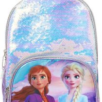 ©Disney Frozen 2 Elsa and Anna Holographic Backpack for Girls, Zipper Closure, 9.5 Wx13 Hx4 D Inches