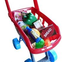 A158, supermarket toy shopping cart with 22 piece accessory for the grocery store or the toy kitchen