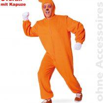 'Orange Bärli Overall Costume Plush Costume with Hood in Size M & XL
