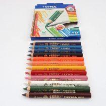 12 Lyra Ferby – Chunky Coloured Pencils – Triangular 12cm – Pre School Art