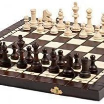 3 in 1 – Wooden Chess Backgammon Draughts SET – LARGE