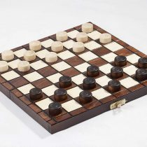 10″ Traditional Hand Crafted Wooden Draughts Checkers Set
