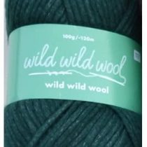 """100 G """"Wild Wild Wool"""" – Colour: Tanne – Trend Yarn for All Cutting Rope – and Crochet Projects."""