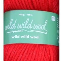 """100 G """"Wild Wild Wool"""" – Colour: Red – Trend Yarn for All Cutting Rope – and Crochet Projects."""