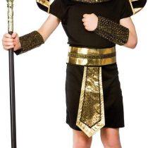 (L) Boys Egyptian Pharaoh Costume for Ancient Historic Fancy Dress Kids Childs