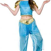 (S) Girls Arabian Princess Costume for Arab Middle East Fancy Dress Kids Childs
