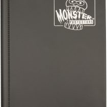 (1) Black 4-Pocket Trading / Gaming Card Binder – Monster Protectors