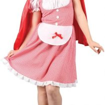 (L) Ladies Red Riding Hood Costume for Fairytales Fancy Dress Womens