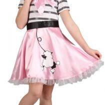(M) Girls Bopper Girl Costume for 50s Rock n Roll Fancy Dress Childrens Kids Childs
