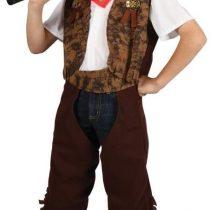 (M) Boys Wild West Cowboy Costume for Fancy Dress Childrens Kids Childs Medium Age 5-7 years