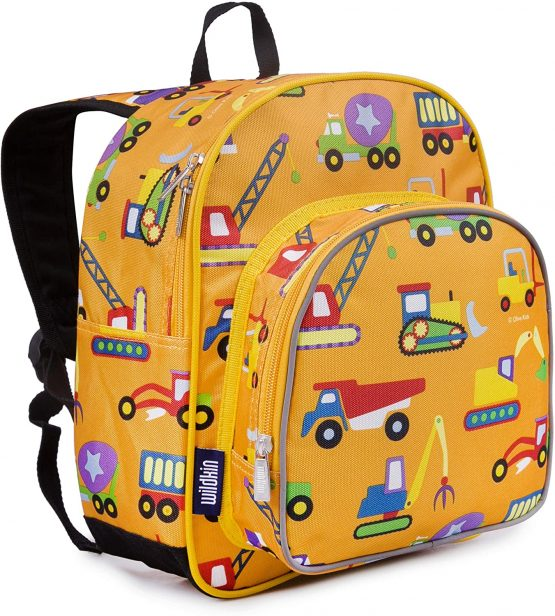 Wildkin Toddler Backpack-Construction, Polyester, Multi-Colour, Pack 'n Snack