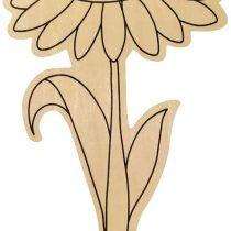 """EDUPLAY 210069 Garden Flowers Set of 6"""" Easter, Multi Colour"""