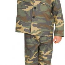 (L) Boys Action Commando Costume for Military Army Soldiers Fancy Dress Kids Childs