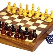 10 Inch Square Magnetic Travel Wooden Chess Set