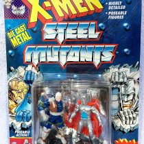 3 Die Cast Metal Cable Vs. Stryfe Action Figures – Marvel Comics X-Men Steel Mutants with Mutant Collector's Stand