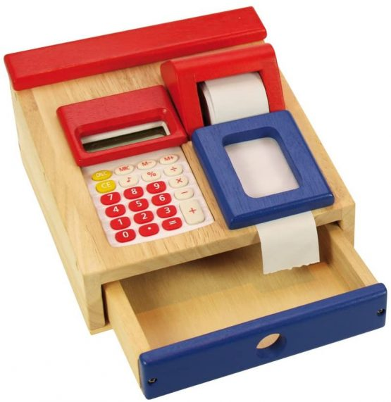 Santoys Wooden Cash Register and Calculator – Play Shop Accessories
