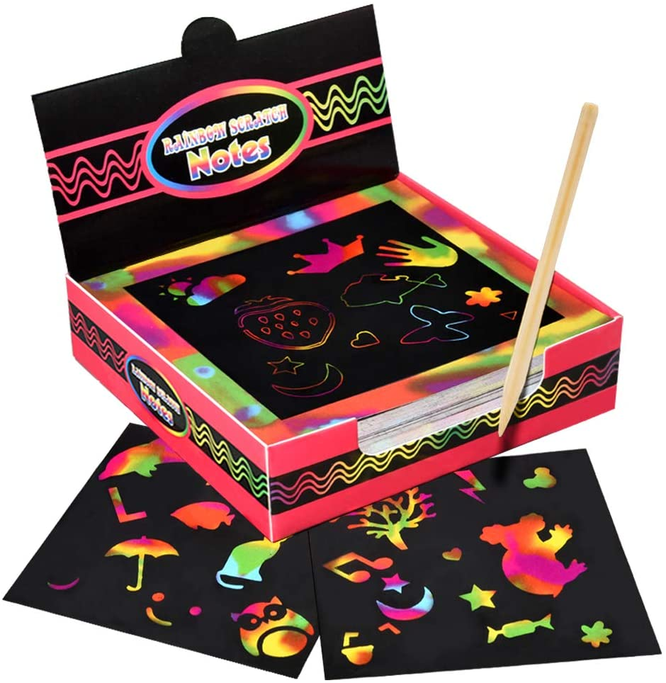 Dreamingbox Arts and Crafts for Girls Age 5-10, Scratch Art 5-10 Year Old Boys Girls Gifts Age 5 ...