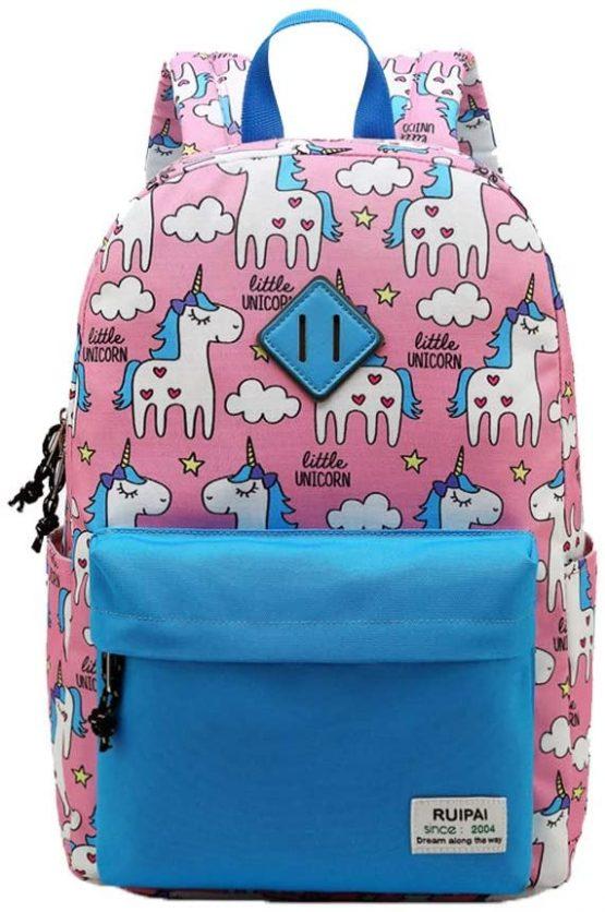 Preschool Backpack for Kids Girls Toddler Unicorn Kindergarten Hiking Travel School Book Bags Pink